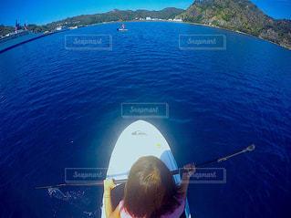 サップを漕いで大海原への写真・画像素材[1016643]