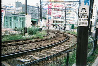 線路は続くよどこまでかの写真・画像素材[1235857]