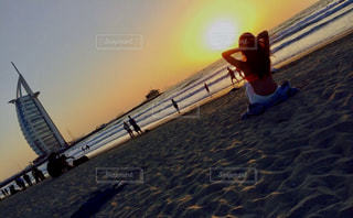 海,夏,夕日,砂浜,水着,beach,sunset,sea,サンセット,summer,Dubai,ドバイ,vacation