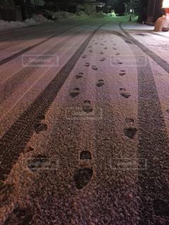 足跡の軌跡の写真・画像素材[1683601]