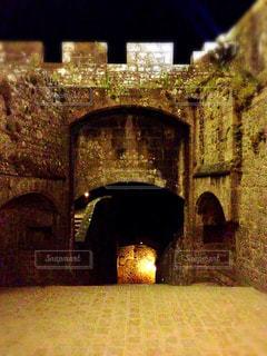 夜のモンサンミッシェルの写真・画像素材[640048]