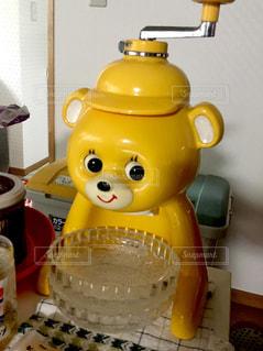 黄色,レトロ,幸せ,昭和,かき氷,懐かしい,キョロちゃん,yellow