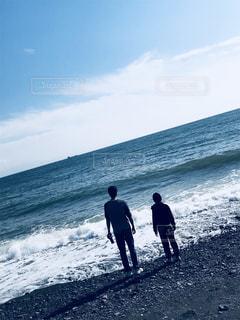 自然,海,親子,子供,仲良し,キラキラ,父,父と子
