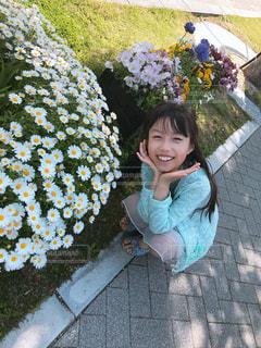 子ども,花,子供,女の子,笑顔,兵庫県