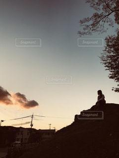 自然,空,夕暮れ,夕方,女の子,観光,姫路城,姫路,兵庫県