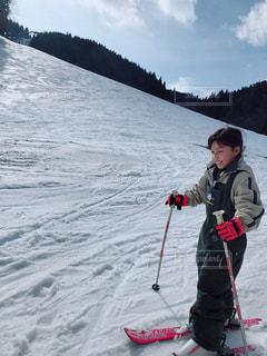 冬,スポーツ,雪,晴天,雪山,山,女の子,スキー,小学生,兵庫県,ウインタースポーツ,ウインター