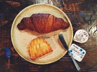 カフェ,朝食,パン,ジャム,ごはん,クロワッサン,おいしい
