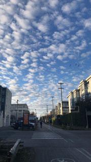 出勤時に見えた空の写真・画像素材[3248161]