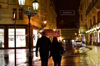 雨の日デートの写真・画像素材[844295]