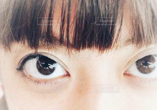 近くに人の目のアップの写真・画像素材[1139049]