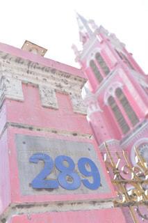 建物の側面にある記号の写真・画像素材[1710272]