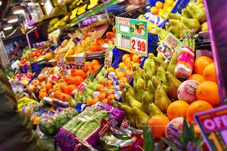 食べ物,ヨーロッパ,オレンジ,フルーツ,果物,市場,果実,スペイン,マーケット,ラフランス,食材,マドリッド,セバダ市場