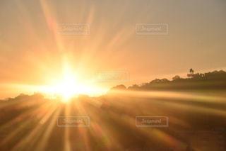 空,屋外,太陽,夕暮れ,日光,オレンジ,光,明るい,鹿児島,ぼやける