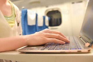 ラップトップコンピュータを使っている人の写真・画像素材[3358415]