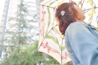 傘を持っている人の写真・画像素材[4656700]