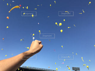 空に凧の飛行の人々 のグループの写真・画像素材[751378]