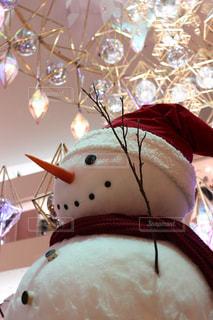 雪だるまとイルミネーションの写真・画像素材[934987]
