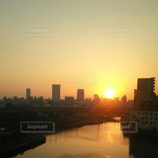 空,夕日,東京
