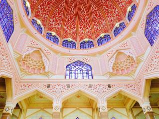 inside of pink mosqueの写真・画像素材[864062]