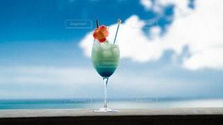 飲み物,海,空,インテリア,夏,雲,水,氷,ガラス,コップ,食器,ドリンク,ライフスタイル
