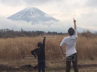 富士山,後ろ姿,兄妹,No.1,真似っ子