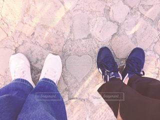 靴,観光,ハート,旅行,日本,地面,石,長崎
