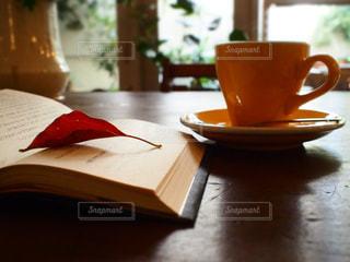 カフェで読書の写真・画像素材[747532]