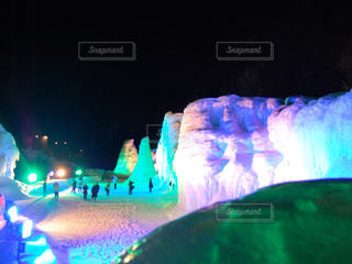 氷瀑まつりの写真・画像素材[879880]