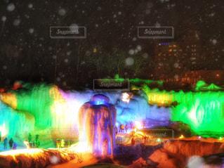 氷瀑まつりの写真・画像素材[881995]
