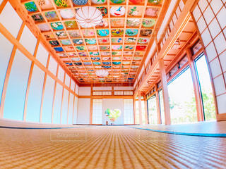 京都,カラフル,綺麗,ハート,可愛い,畳,和風,天井画,ハートの窓,正寿院,猪目窓