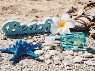 砂浜とL'air De SAVONの写真・画像素材[1156322]