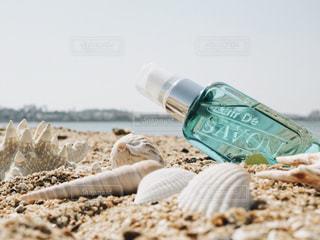 砂浜とL'air De SAVONの写真・画像素材[1157797]
