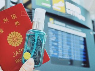 パスポートとL'air De SAVONの写真・画像素材[1157826]
