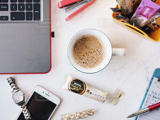 オフィスで簡単カフェ気分の写真・画像素材[1279254]