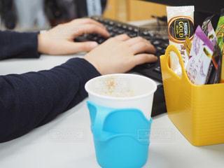 オフィスでカフェ気分の写真・画像素材[1280750]