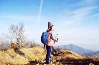 凧の飛行男の写真・画像素材[766024]