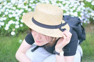 麦わら帽子の写真・画像素材[1349899]