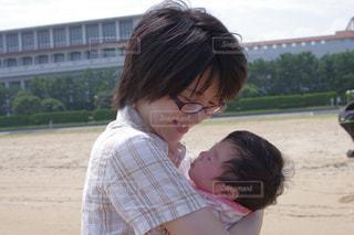 海,親子,浜辺,赤ちゃん,ママと子供