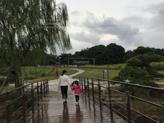 雨の中の散歩の写真・画像素材[850118]