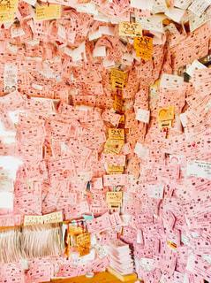 ピンクの切符の写真・画像素材[847275]