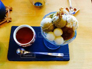 ほうじ茶パフェの写真・画像素材[1055802]