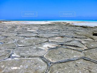 久米島の畳石の写真・画像素材[2334859]