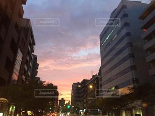 空,夕日,東京,夕焼け,都会,夕陽,ドライブ,グラデーション,無加工,加工なし