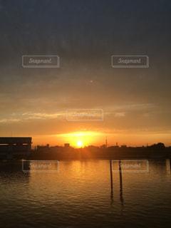 風景,空,夕日,太陽,スカイツリー,川,光
