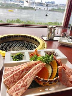 海,ランチ,景色,野菜,肉,おいしい,焼肉,お肉,焼き肉