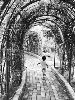 歩道に立っている人の写真・画像素材[820564]