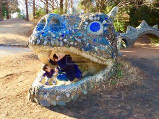 公園,大きい,休日,龍,ドラゴン,お出かけ,竜