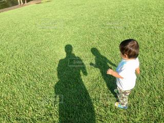 草の中に立っている小さな男の子の写真・画像素材[1157877]