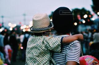 後ろ姿,人物,背中,人,後姿,祭り,夏祭り,父と子