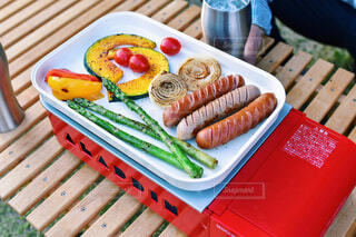 食べ物,アウトドア,庭,野菜,バーベキュー,ソーセージ,BBQ,ファストフード,ちょい飲み,カセットコンロ,ジョンソンヴィル